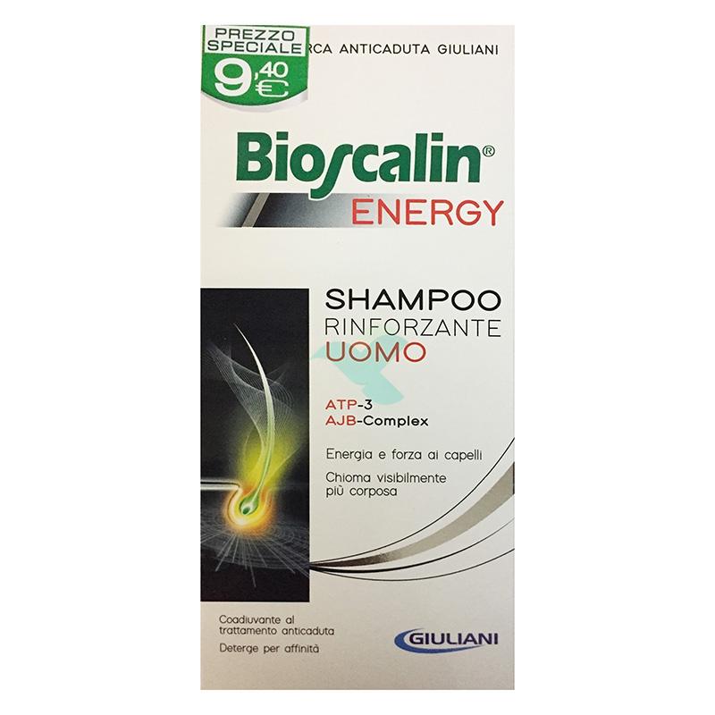 Bioscalin Linea Capelli Uomo Energy Anticaduta Trattamento Shampoo 200 ml