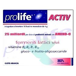 Prolife Active Integratore Alimentare di Fermenti Lattici 10 Bustine