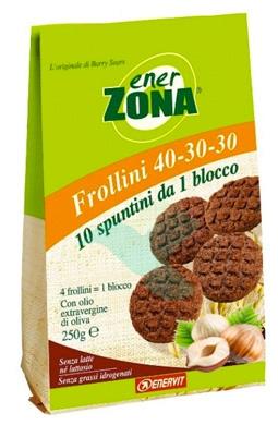 EnerZona Linea Alimentazione Dieta a ZONA Frollini Nocciole 40-30-30