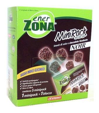 EnerZona Linea Alimentazione Dieta a ZONA 5 Minirock Cioccolato Fondente40-30-30