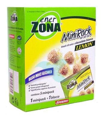 EnerZona Linea Alimentazione Dieta a ZONA 5 Minirock Limone 40-30-30