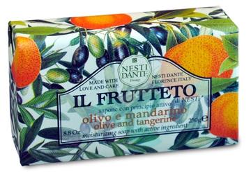 Nesti Linea Il Frutteto Sapone Vegetale Olio di Oliva e Mandarino 250 g