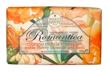 Nesti Linea Romantica Sapone Vegetale Ciliegio Nobile e Basilico 250 g