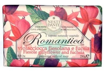 Nesti Linea Romantica Sapone Vegetale Violaciocca Fiesolana e Fucsia 250 g