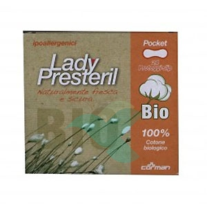 Lady Presteril Linea Pocket Bio Assorbente Puro Cotone 24 Proteggislip