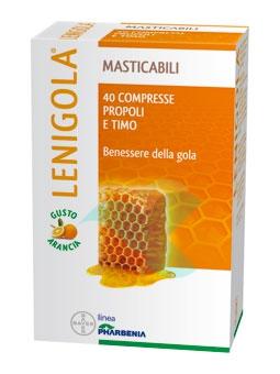 Lenigola Linea Propoli Benessere Gola 20 Compresse Masticabili Arancia