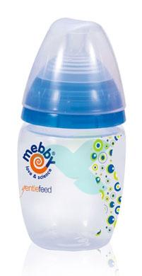 Mebby Linea Allattamento Biberon Gentlefeed Colore Blu-Verde 280 ml
