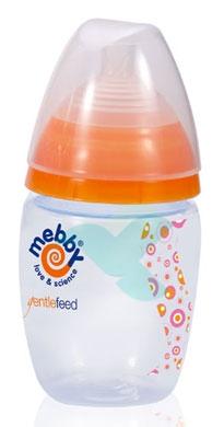 Mebby Linea Allattamento Biberon Gentlefeed Colore Rosa-Arancio 280 ml