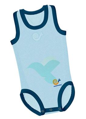 Mebby Linea Abbigliamento Mebby Body Up Tutina Vogatore Azzurra con Bordi Blu