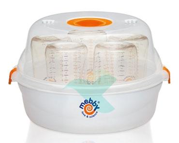 Mebby Linea Elettromedicali Sterilizzatore Per Forno Microonde per 5 Biberon