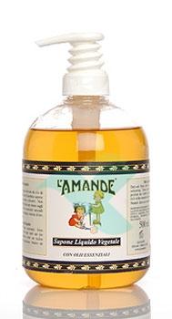 L'Amande Linea Marsiglia Sapone Liquido Idratante Senza Profumo 500 ml