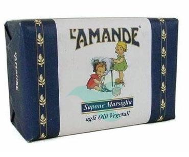 L'Amande Linea Marsiglia Sapone Solido Idratante Olio di Mandorle Dolci 400 g