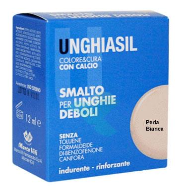 Unghiasil Linea Colore e Cura Trattamento Rinforzante + Colore 12ml Perla Bianca