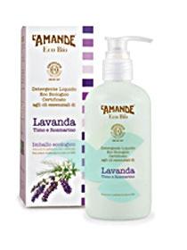 L'Amande Linea Eco Bio Detergente Liquido Lavanda Timo Rosmarino 250 ml