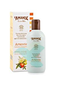 L'Amande Linea Eco Bio Doccia Schiuma Arancia Limone Pompelmo 200 ml