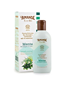 L'Amande Linea Eco Bio Doccia Schiuma Menta Eucalipto Limone 200 ml