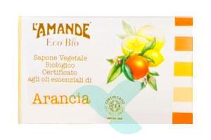 L'Amande Linea Eco Bio Sapone Vegetale Arancia Limone Pompelmo 100 g