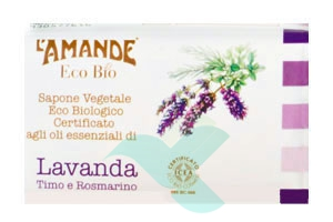 L'Amande Linea Eco Bio Sapone Vegetale Lavanda Timo Rosmarino 100 g