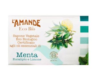 L'Amande Linea Eco Bio Sapone Vegetale Menta Eucalipto Limone 100 g