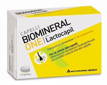 Biomineral Linea Hair Terapy One con Lactopil Capelli Deboli 30 Compresse