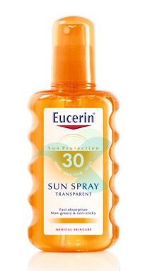 Eucerin Linea Solare Pelli Sensibili SPF30 Lozione Trasparente Spray 200 ml