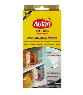 Autan Linea Anti-Tarme 2 Foglietti Adesivi Anti-Tarme Alimentari No Insetticida